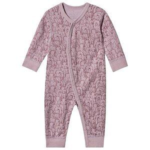 Hust&Claire; Mala Bodysuit Purple Fog 92 cm (1,5-2 år)