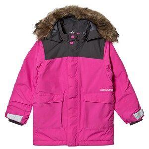 Didriksons Kure Parka Plastic Pink 140 cm (9-10 år)