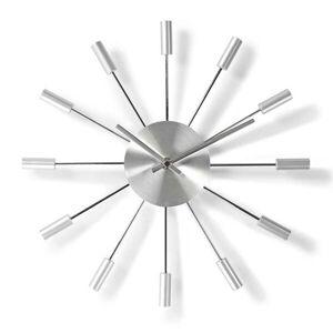 Nedis Rund väggklocka 34 cm Silver