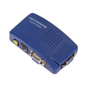 Adapter VGA till Video S-Video / PC to TV konverterare