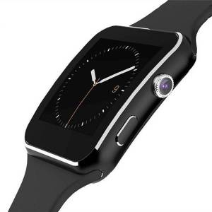 Aktivitetsklocka med Kamera Touch Screen Bluetooth iPhone / Android - Svart