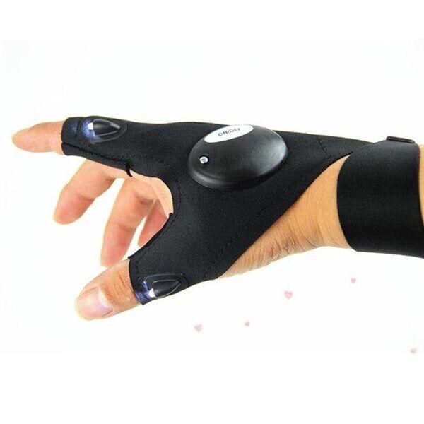 Handske med lampa - Belysning på tumme/pekfinger