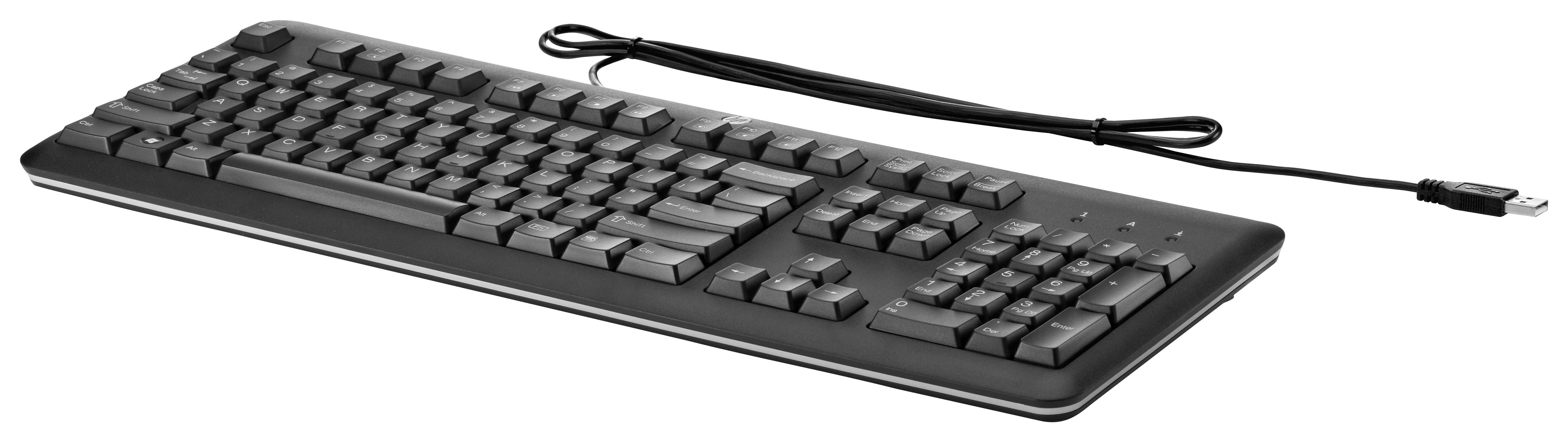 HP - Tangentbord - USB - Danska/finska/norska/svenska - för HP