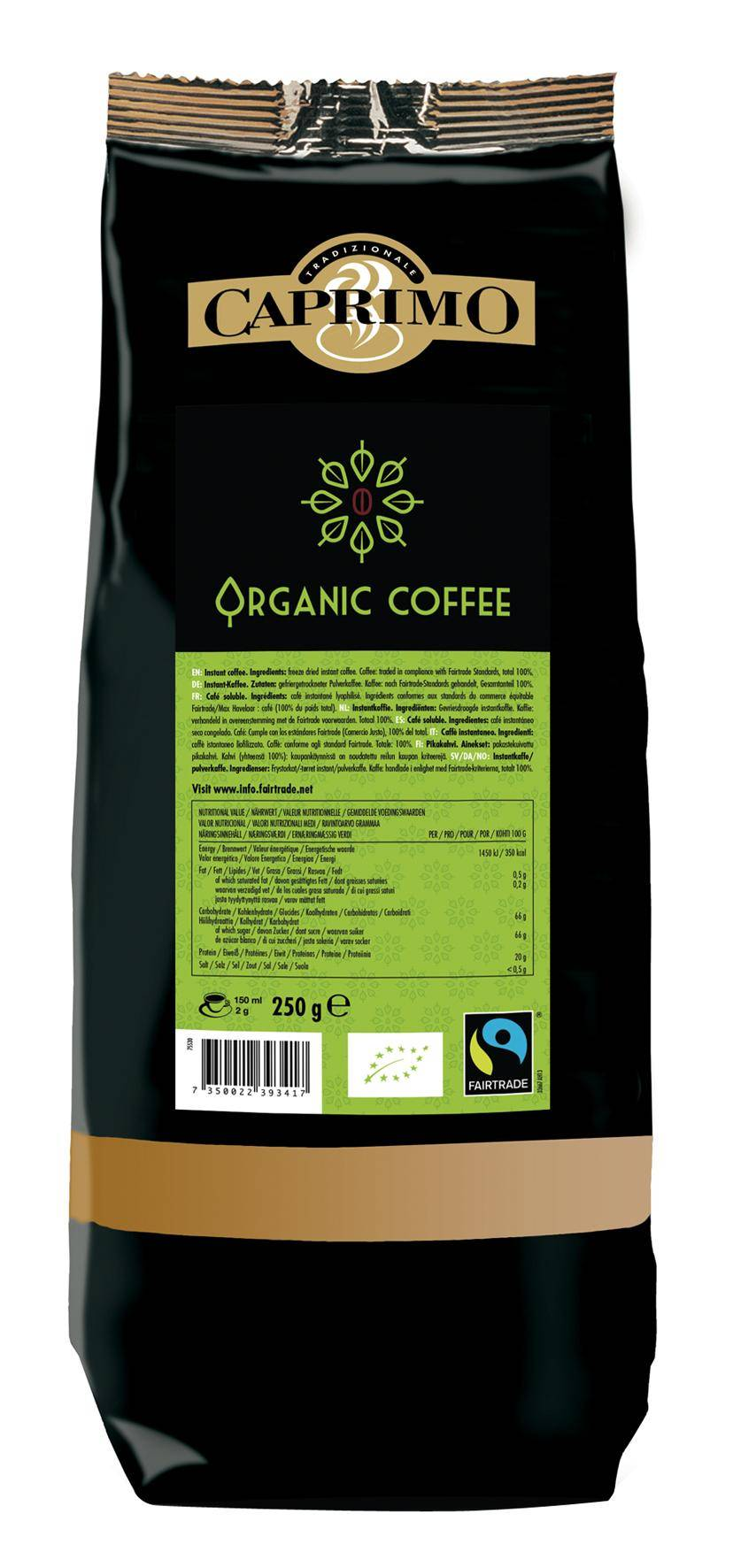 Caprimo Organic FT Coffe10x250