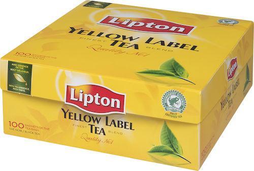 Te Lipton påse Yellow Label, 100st