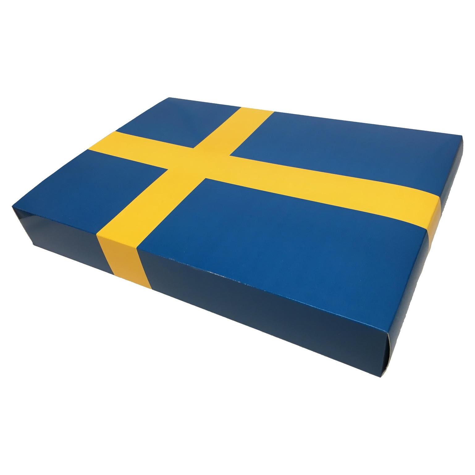 Sverigepaket Presentkartong FlaggaOne-SizeBlå/Gul Blå/Gul