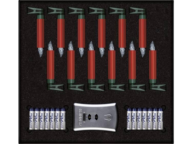 Krinner Julgransbelysning Inomhus batteri 12 LED Varmvit Röd Krinner Premium Mini