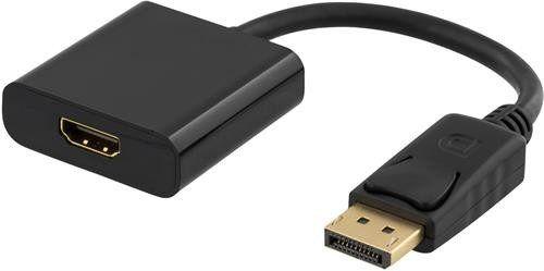 Deltaco Aktiv DisplayPort till HDMI-adapter med ljud