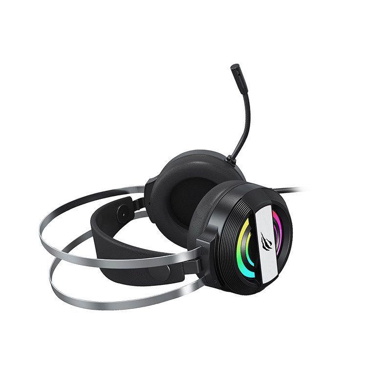 Havit Gaming headset med RGB, USB+3.5mm