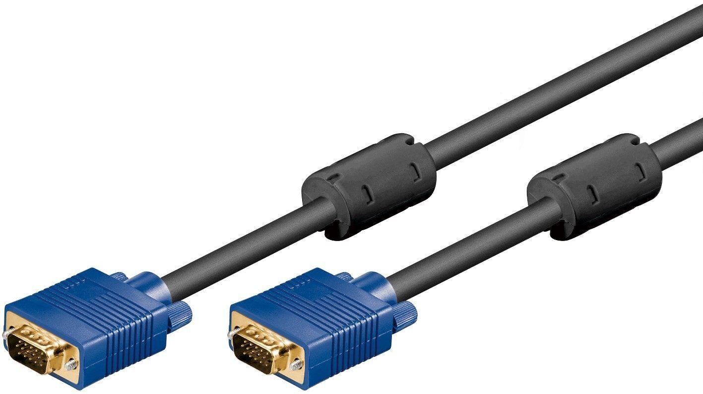 Goobay guldpläterad VGA-kabel i flera längder (10 meter)