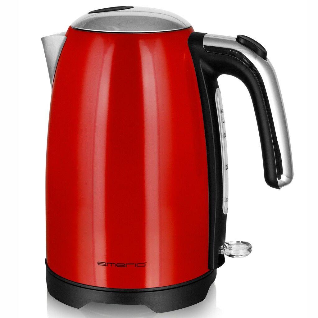 Emerio Vattenkokare Retro Black 1,7L Röd
