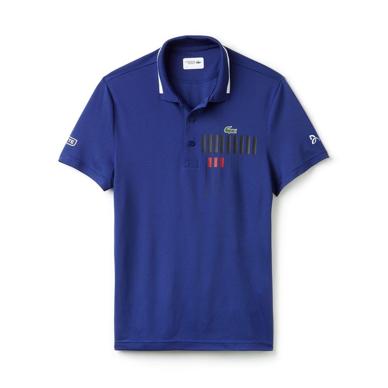 Lacoste Polo Novak Djokovic Collection Oceane/White Size XL M