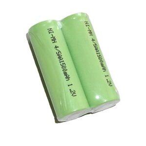Oral-B 2x 4/5 AA batteri med solder tabs (1500 mAh, Laddningsbar)