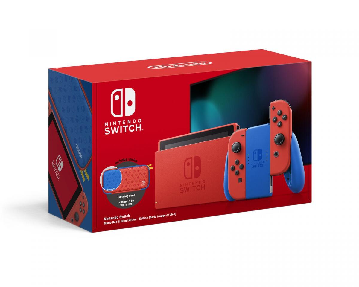 Nintendo Switch Konsol - Mario Red & Blue Edition
