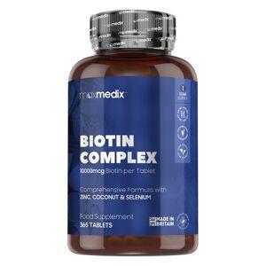 maxmedix Biotin Complex - 365 Kapslar för ett års förbrukning För ditt välmående