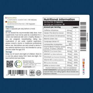 maxmedix GynecoMAX - Naturliga piller mot mansbröst - 60 Kapslar - Mot förstorade bröst hos män - Naturlig formel med Zink & en avancerad Enzymblandni