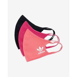 adidas Originals Rúška 3 ks Čierna Ružová M-L