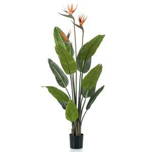 Emerald Umelá rastlina Strelícia s kvetináčom a kvetinami 120 cm