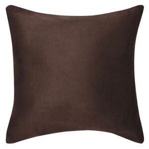 vidaXL Návliečky na vankúše, 4 ks, umelý semiš, 80x80 cm, hnedé