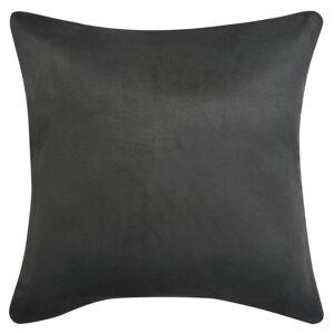 vidaXL Návliečky na vankúše, 4 ks, umelý semiš, 80x80 cm, antracitové