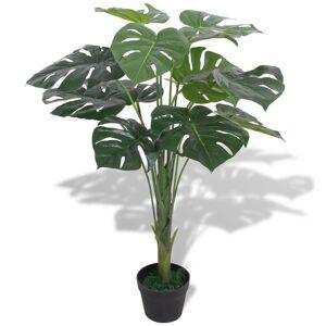vidaXL Umelá rastlina, monstera s kvetináčom 70 cm, zelená