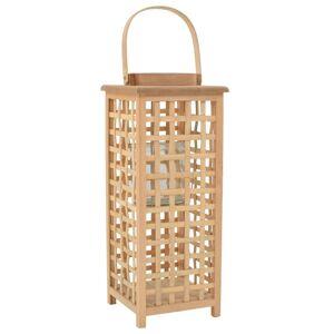 vidaXL Závesný svietnik bambusový prírodný