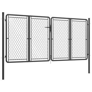 vidaXL Záhradná brána antracitová 300x125 cm oceľová