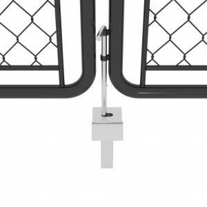 vidaXL Záhradná brána antracitová 400x100 cm oceľová