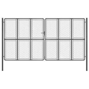 vidaXL Záhradná brána antracitová 400x175 cm oceľová