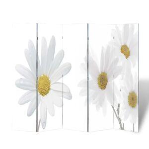 vidaXL Skladací paraván 200x170 cm potlač kvetov