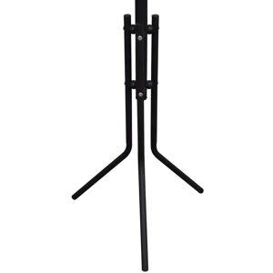 vidaXL Čierny kovový vešiak na kabáty