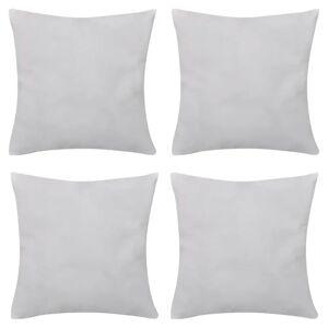 vidaXL Návliečky na vankúše, 4 ks, bavlna, biele, 40 x 40 cm