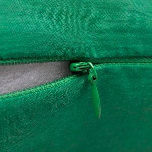 vidaXL Návliečky na vankúše, 4 ks, bavlna, zelené, 50 x 50 cm
