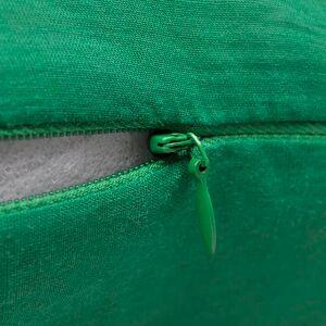 vidaXL Návliečky na vankúše, 4 ks, bavlna, zelené, 80 x 80 cm