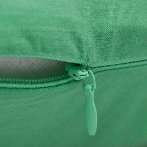vidaXL Návliečky na vankúše, bavlna, 4 ks, jablková zelená, 40 x 40 cm