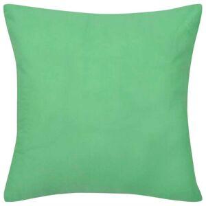 vidaXL Návliečky na vankúše, 4 ks, bavlna, jablková zelená, 80 x 80 cm