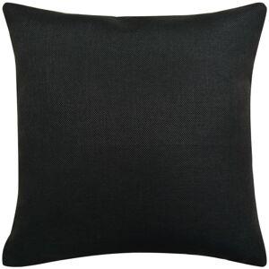 vidaXL Návliečky na vankúše 4 ks, plátnový vzhľad, čierne, 50x50 cm