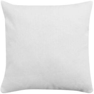 vidaXL Návliečky na vankúše 4 ks, plátnový vzhľad, biele, 40x40 cm