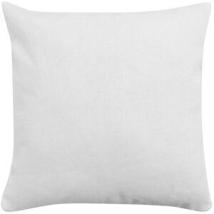 vidaXL Návliečky na vankúše, 4 ks, plátnový vzhľad, biele, 80x80 cm