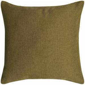 vidaXL Návliečky na vankúše 4 ks, plátnový vzhľad, zelené, 40x40 cm