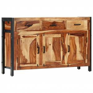 vidaXL Komoda 120x35x75 cm, drevený masív sheesham