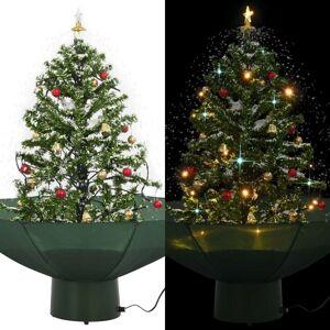 vidaXL Snežiaci vianočný stromček dáždnikovým podstavcom  zelený 75 cm