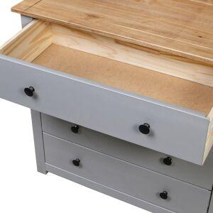 vidaXL Príručná skrinka sivá 80x40x73 cm borovicové drevo Panama