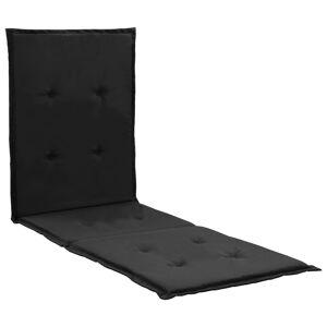 vidaXL Podložka na ležadlo, čierna 180x55x3 cm