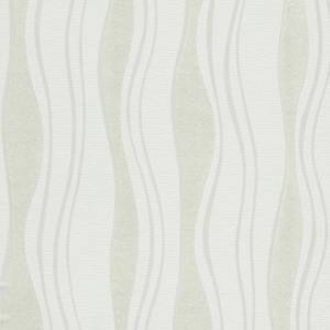 vidaXL Netkané tapetové rolky 4 ks, biele 0,53x10 m, vlnky
