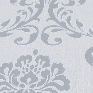 vidaXL Netkané tapetové rolky 2 ks, biele 0,53x10 m, ornamenty