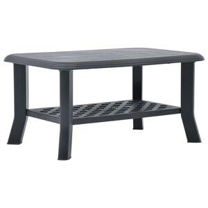 vidaXL Konferenčný stolík, antracitový 90x60x46 cm, plast