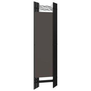 vidaXL Paraván so 6 panelmi, antracitový 240x180 cm