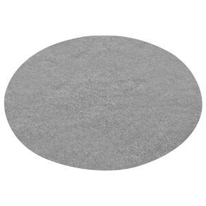 vidaXL Umelý trávnik s nopmi priemer 130 cm sivý okrúhly