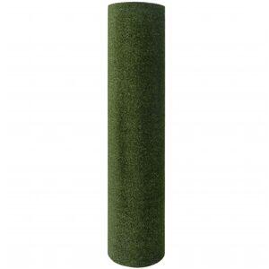 vidaXL Umelý trávnik 1,5x8 m/7-9 mm, zelený